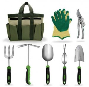 1.Zymhieo Stainless Steel Garden Tools Set for Mom