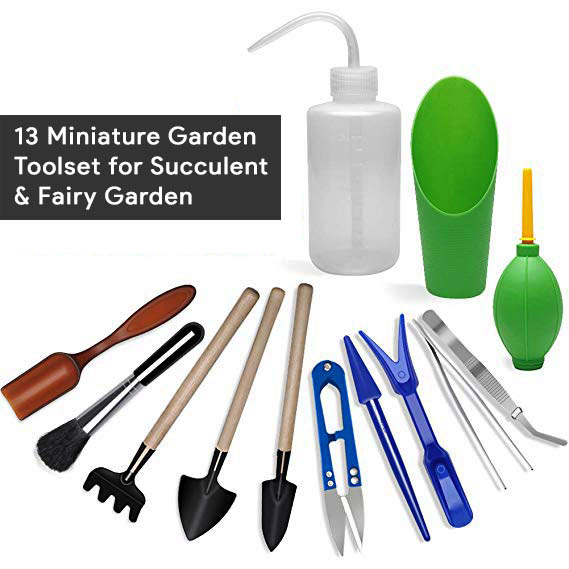 10-Miniature Garden Toolset for Succulent & Fairy Garden