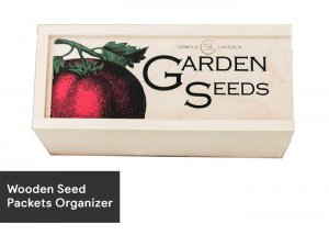 14-Wooden Seed Packets Organizer