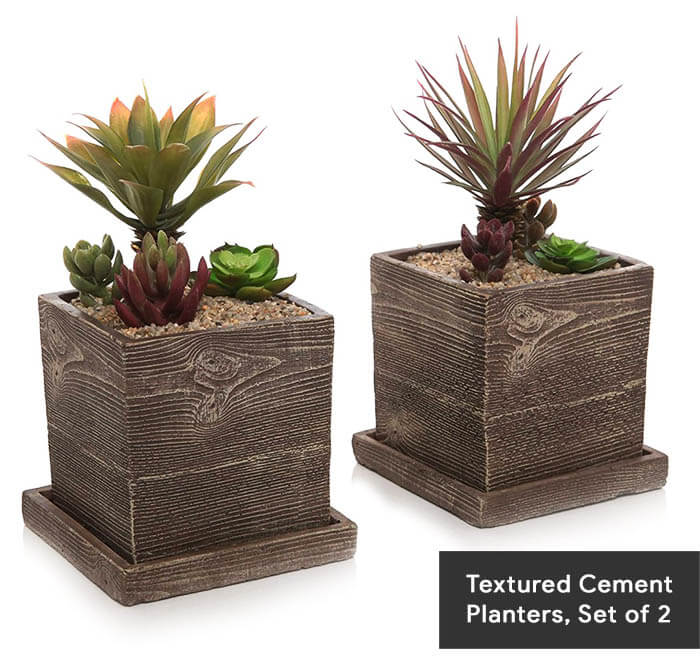 15-Textured Cement Planters