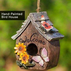 18-Hand-Painted Bird House