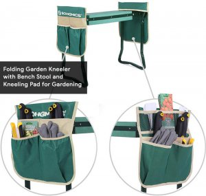 2. Folding Garden Kneeler with Bench Stool and Kneeling Pad for Mom