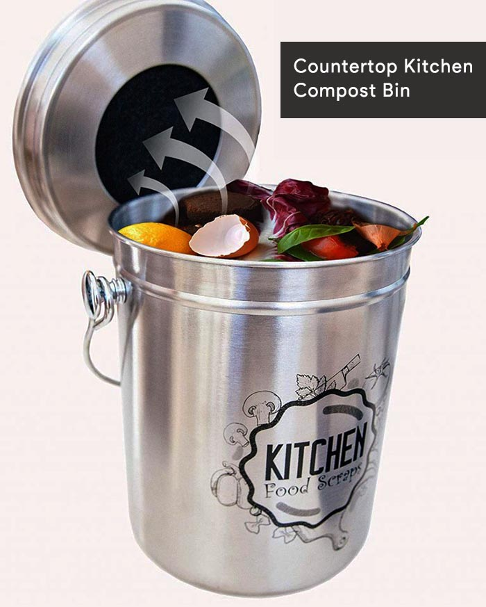 20-Countertop Kitchen Compost Bin