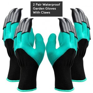 21-Waterproof Garden Gloves With Claws