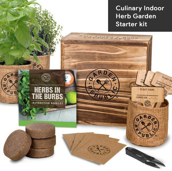8-Culinary Indoor Herb Garden Starter kit