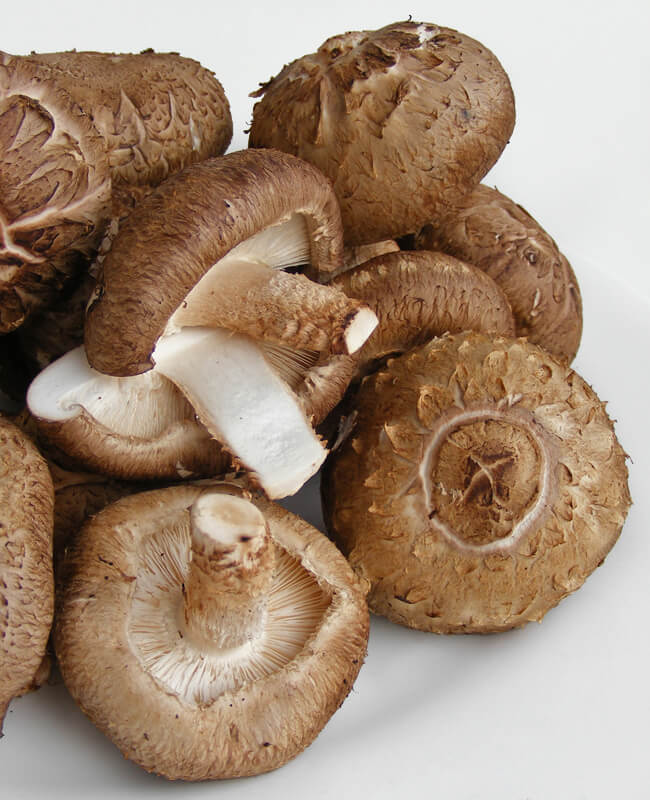 Shiitake Mushrooms - How they look